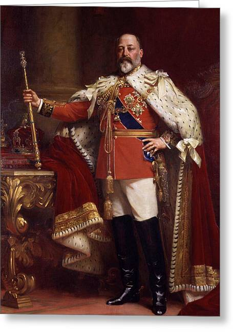 Edward Vii In Coronation Robes Greeting Card by Mountain Dreams