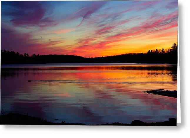 Paul Wash Greeting Cards - Eel Bay Sunset Greeting Card by Paul Wash