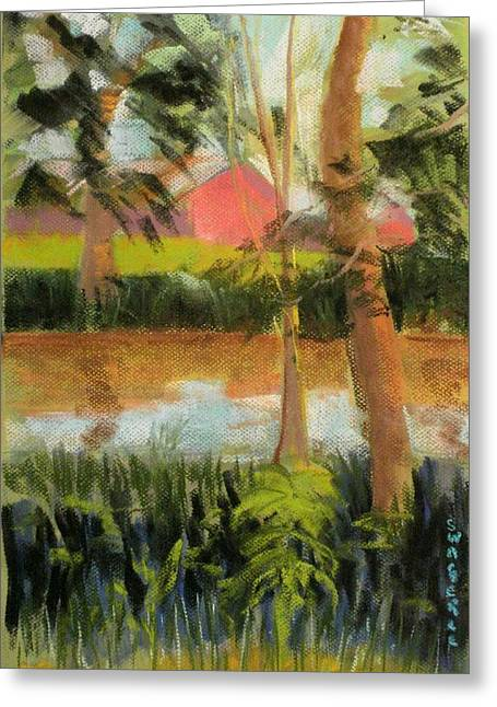 Weed Pastels Greeting Cards - Eel River at Mexico Greeting Card by Tim  Swagerle