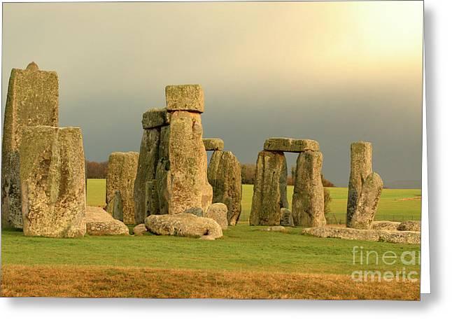 Eerie Stonehenge 2 Greeting Card by Deborah Smolinske