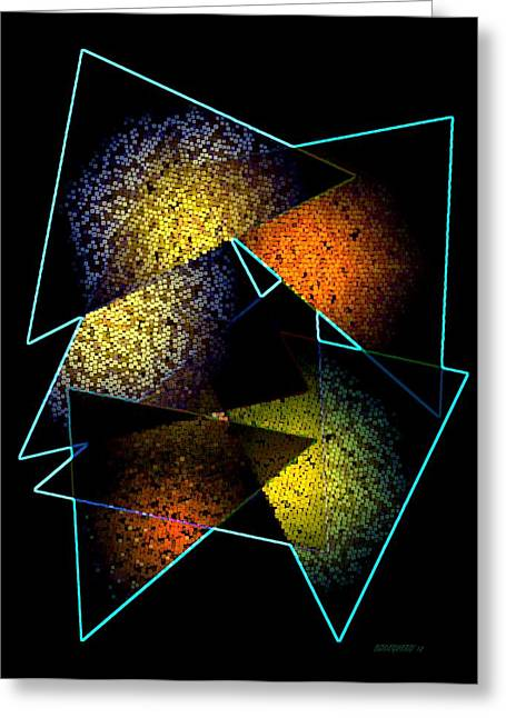 Tone Greeting Cards - Effects triangles Greeting Card by Mario  Perez