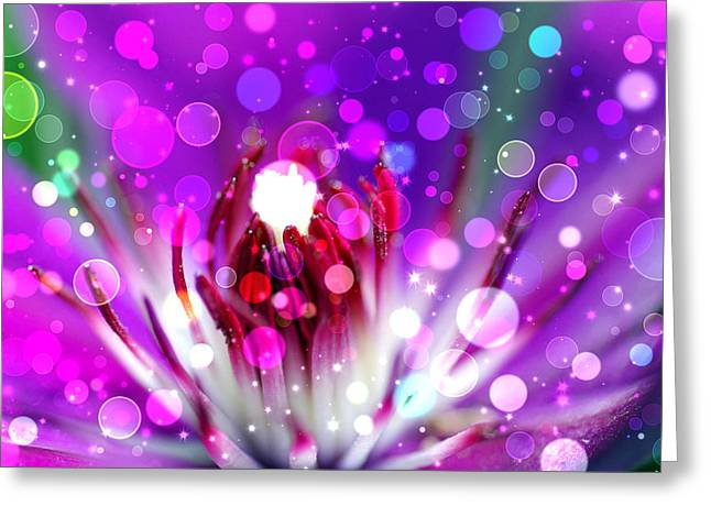 Bubbly Mixed Media Greeting Cards - Effervescent Greeting Card by Don Wright