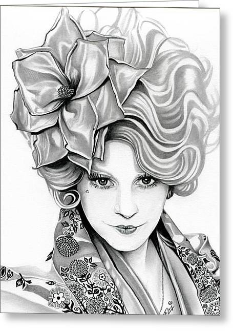Reaping Greeting Cards - Effie Trinket - The Hunger Games Greeting Card by Fred Larucci