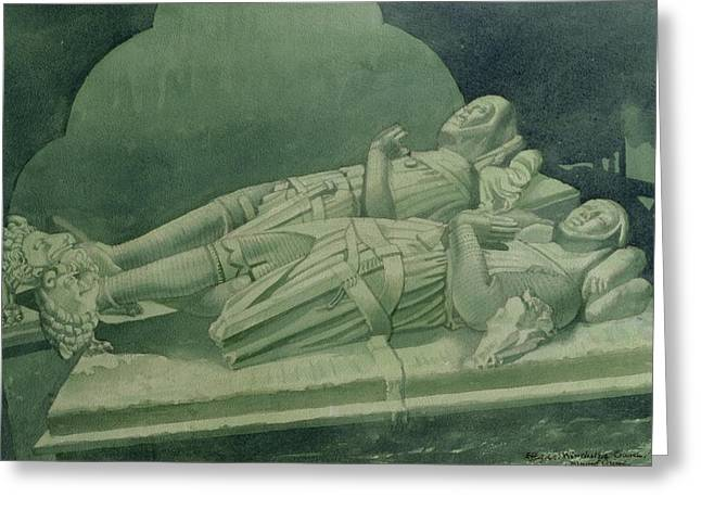 Tomb Greeting Cards - Effigies, Winchelsea Church Greeting Card by Osmund Caine