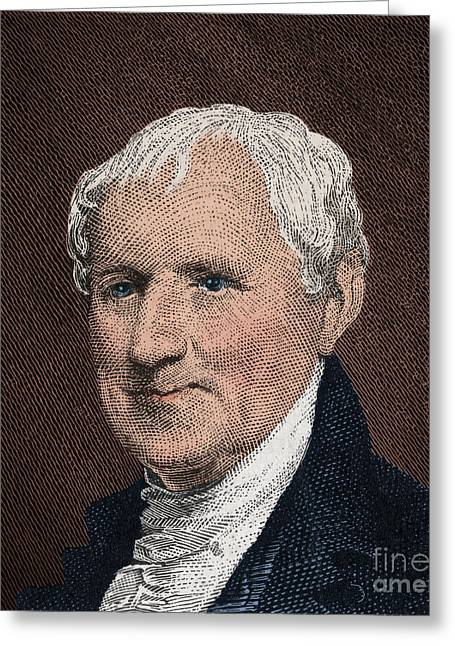 U S Founding Father Greeting Cards - Egbert Benson, American Patriot Greeting Card by Photo Researchers