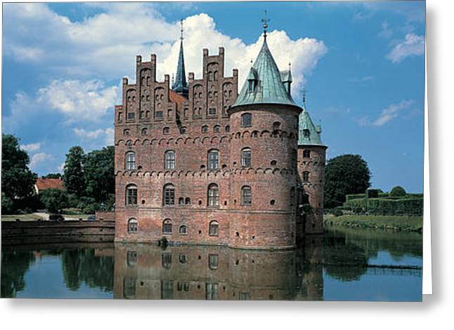 Historic Architecture Greeting Cards - Egeskov Castle Odense Denmark Greeting Card by Panoramic Images