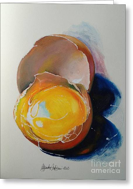 Painted Recipes Greeting Cards - Egg.. Greeting Card by Alessandra Andrisani