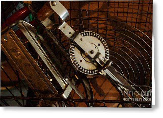 Wire Handle Greeting Cards - Egg Beater in Basket Greeting Card by Roger Reeves  and Terrie Heslop