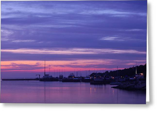 Sunset Greeting Cards Greeting Cards - Egg Harbor Sunset Greeting Card by Allen Tunget