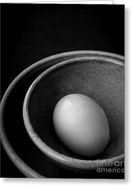 Nesting Greeting Cards - Egg in Bowls Open Edition Greeting Card by Edward Fielding