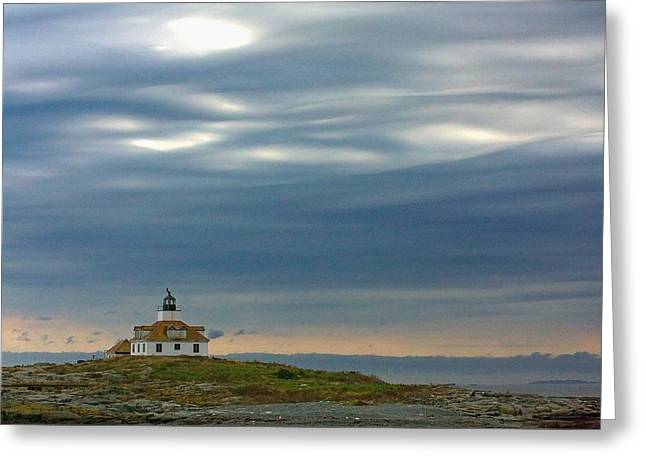 Old Maine Houses Greeting Cards - Egg Rock Light #2 Greeting Card by Stuart Litoff