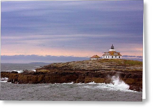 Old Maine Houses Greeting Cards - Egg Rock Light Greeting Card by Stuart Litoff