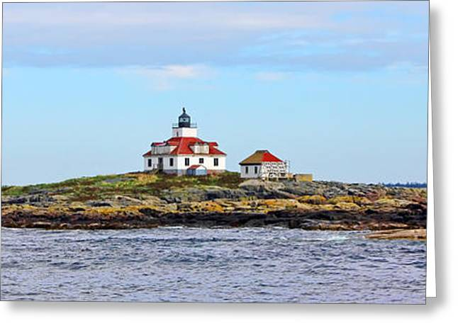 Maine Lighthouses Greeting Cards - Egg Rock Lighthouse Greeting Card by Jack Schultz