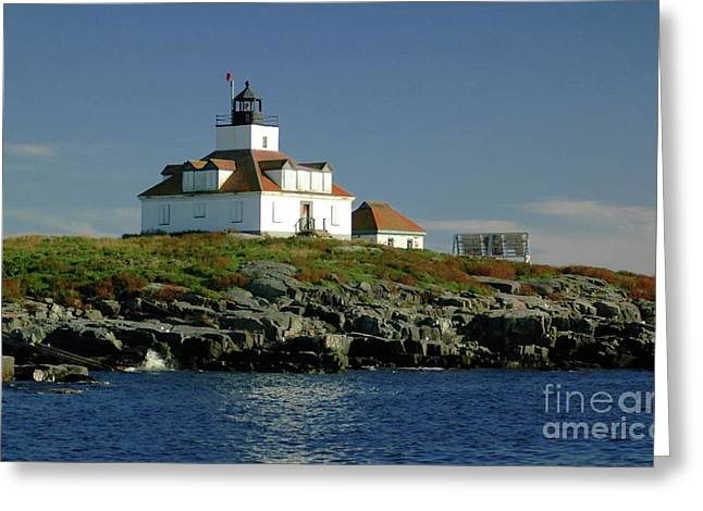 Egg Rock Lighthouse Greeting Card by Kathleen Struckle
