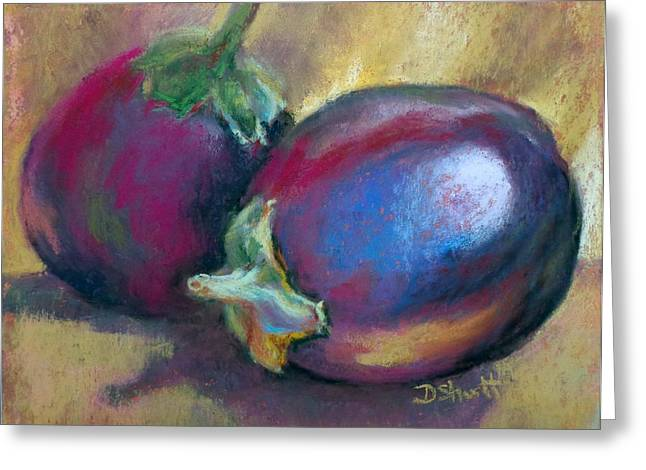 Eggplant Greeting Card by Donna Shortt