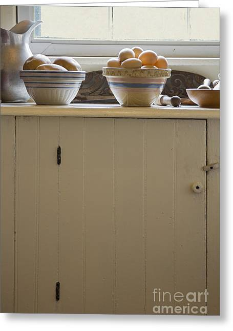 Old Pitcher Greeting Cards - Eggs and Potatoes Greeting Card by Margie Hurwich