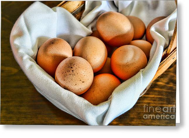 Gifts For A Cook Greeting Cards - Eggs in a Basket Greeting Card by Paul Ward