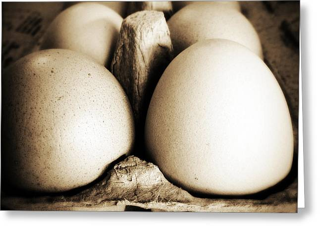 Breakfast Photographs Greeting Cards - Eggs Greeting Card by Les Cunliffe