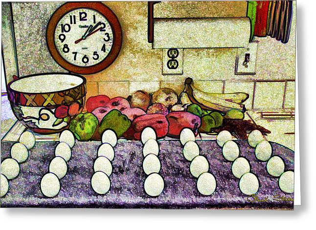 Scramble Egg Greeting Cards - Eggs on Display Greeting Card by Chuck Staley