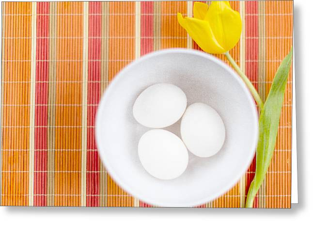 Morning Breakfast Greeting Cards - Eggs Greeting Card by Rebecca Cozart