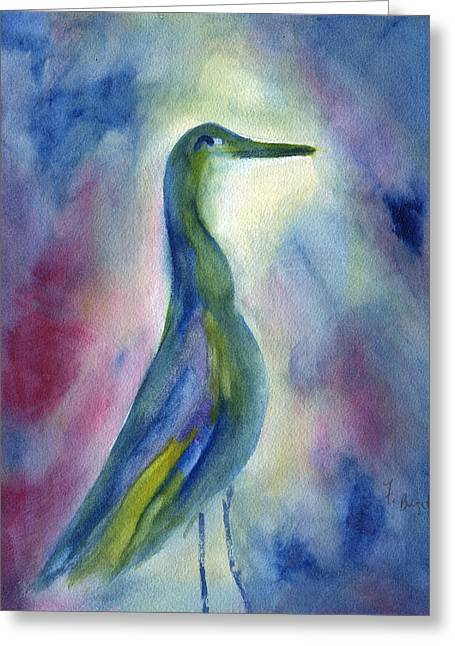 Frank Ocean Art Greeting Cards - Egret Profile Abstract Greeting Card by Frank Bright