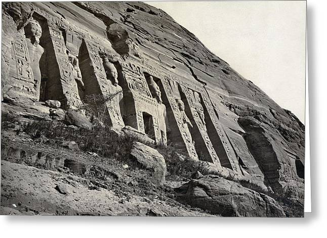 Egypt Abu Simbel Temple Greeting Card by Granger