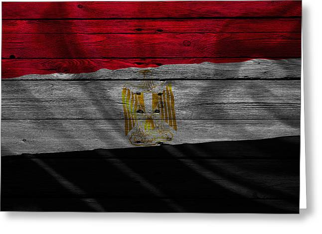 Flag Pole Greeting Cards - Egypt Greeting Card by Joe Hamilton