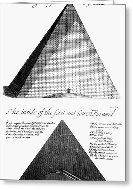 African Heritage Greeting Cards - Egypt: Pyramid Diagram Greeting Card by Granger