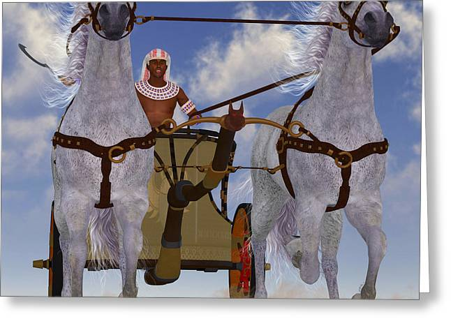 Pharaoh Digital Art Greeting Cards - Egyptian Chariot Greeting Card by Corey Ford