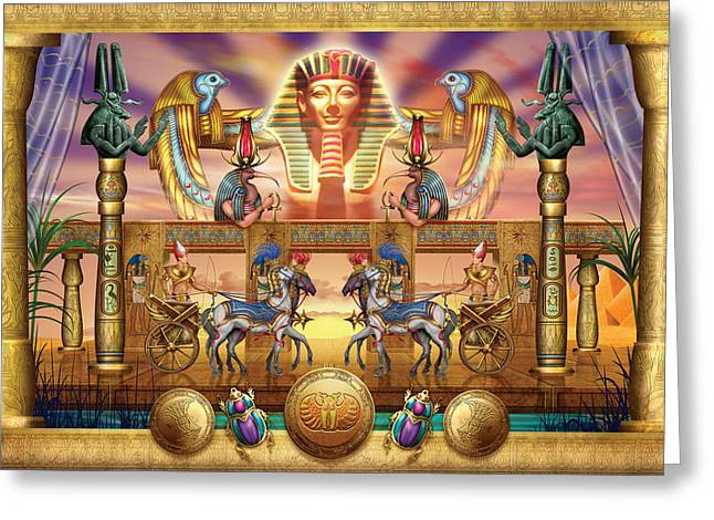 Pharaoh Digital Art Greeting Cards - Egyptian Greeting Card by Ciro Marchetti