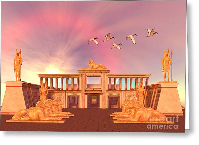Pharaoh Digital Art Greeting Cards - Egyptian Kingdom Greeting Card by Corey Ford