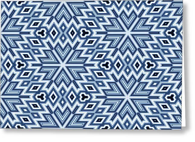 Blue Blocks Greeting Cards - Egyptian Pyramidal Cubes Greeting Card by Daniel Hagerman