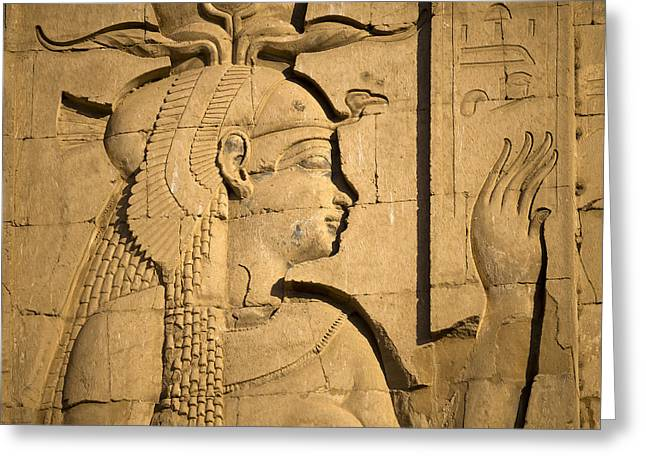 Hathor Greeting Cards - Egyptian Queen Greeting Card by Brenda Kean