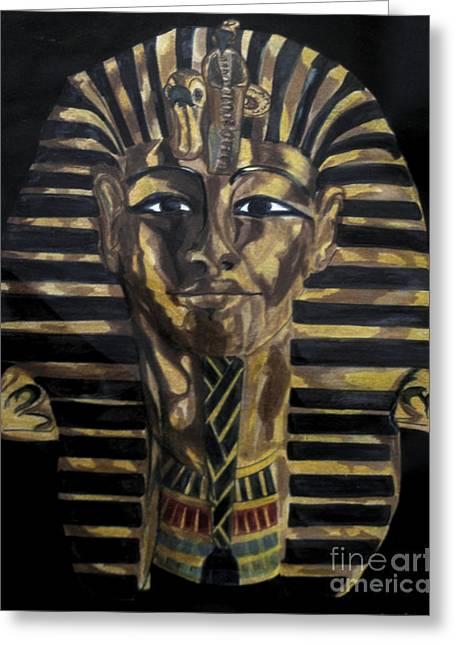 Egyptian Sarcophagus Greeting Cards - Egyptian Sarcophagus Greeting Card by Cher Reissig-Daley