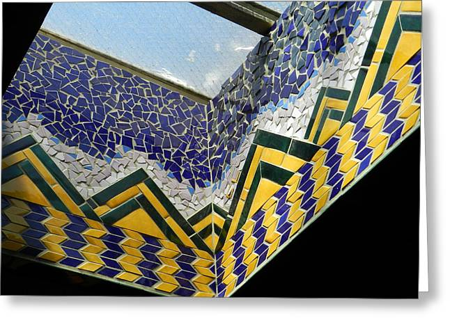 Mosaic Ceramics Greeting Cards - Egyptian Skylight  Greeting Card by Charles Lucas