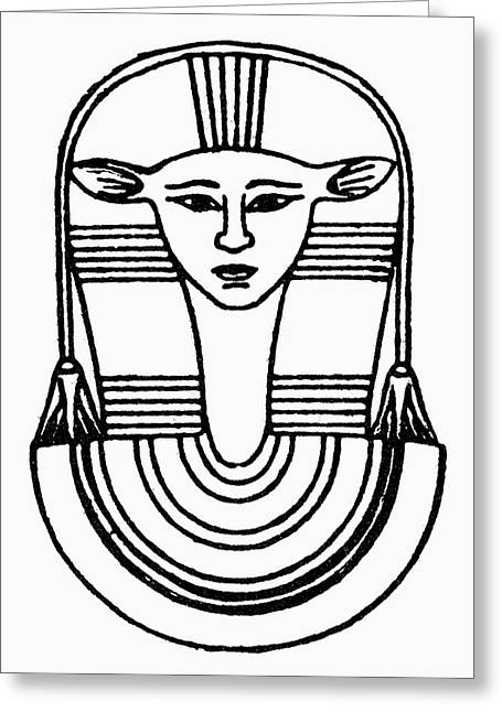 Egyptian Symbol Hathor Greeting Card by Granger