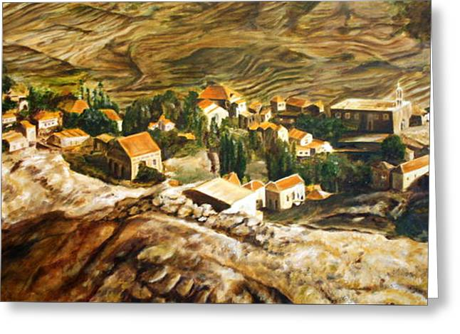 Ehden Lebanon Greeting Card by Lyndsey Hatchwell