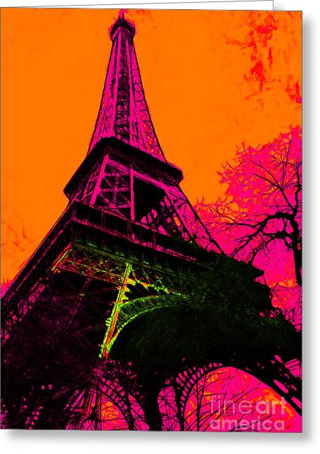 West Paris Greeting Cards - Eiffel 20130115v1 Greeting Card by Wingsdomain Art and Photography