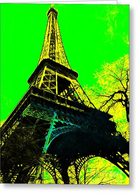 West Paris Greeting Cards - Eiffel 20130115v2 Greeting Card by Wingsdomain Art and Photography