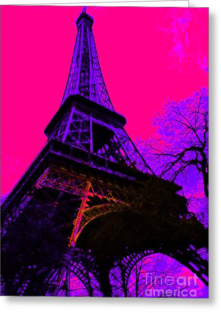 West Paris Greeting Cards - Eiffel 20130115v3 Greeting Card by Wingsdomain Art and Photography