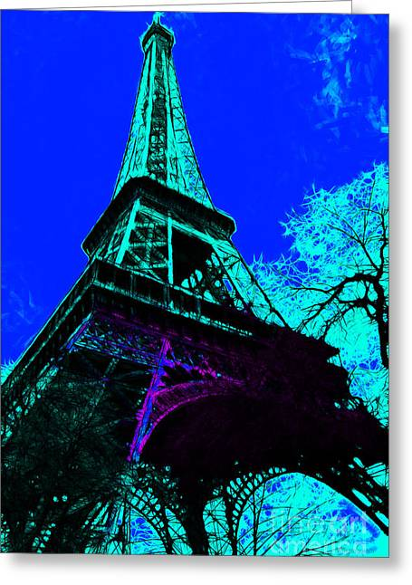 West Paris Greeting Cards - Eiffel 20130115v4 Greeting Card by Wingsdomain Art and Photography