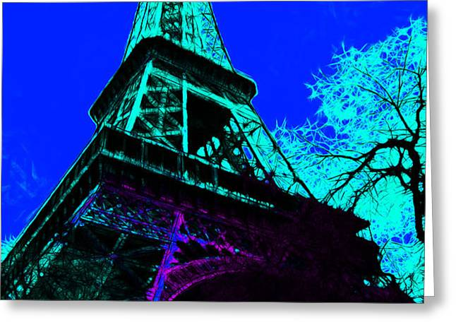 Eiffel 20130115v4 Greeting Card by Wingsdomain Art and Photography