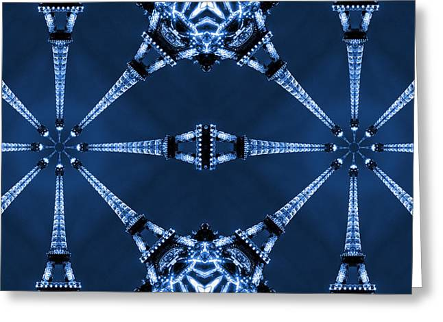 Modern Art Greeting Cards - Eiffel Art 17a Greeting Card by Mike McGlothlen
