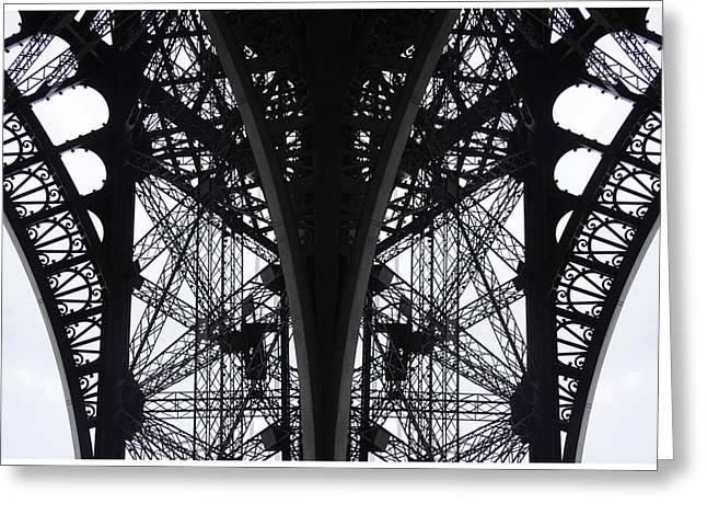 Bastille Greeting Cards - Eiffel Morning Greeting Card by Von Hoffman