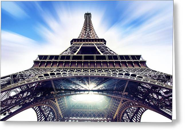 Champs Photographs Greeting Cards - Eiffel Greeting Card by Ivan Vukelic