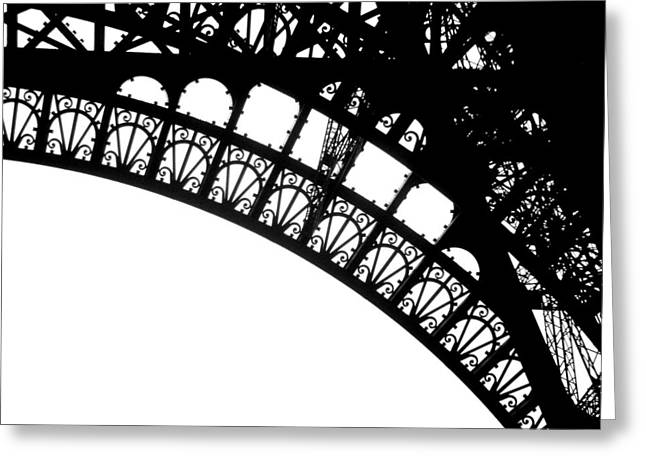 Geschichte Greeting Cards - Eiffel Metal crochet  Greeting Card by Rita Haeussler