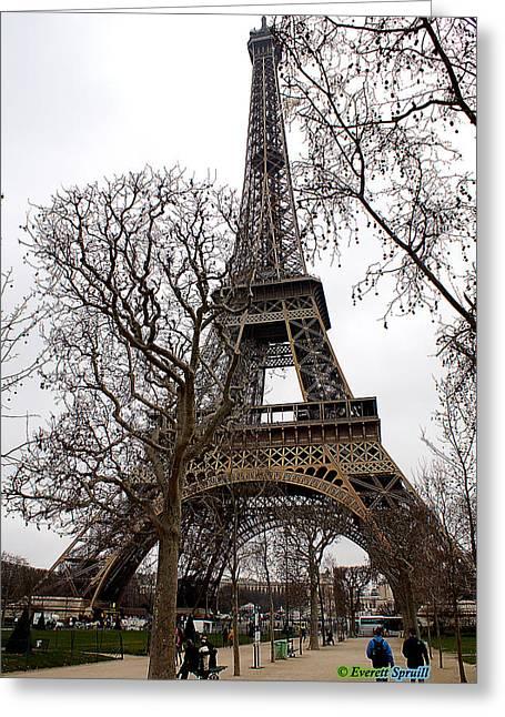 Everett Spruill Photographs Greeting Cards - Eiffel Tower 18 Greeting Card by Everett Spruill
