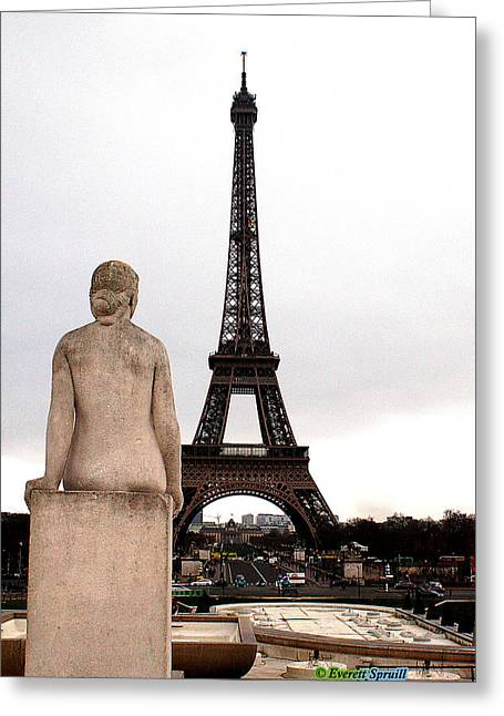 Everett Spruill Photographs Greeting Cards - Eiffel Tower 2 Greeting Card by Everett Spruill
