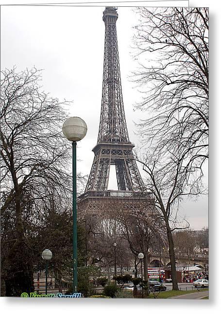 Everett Spruill Photographs Greeting Cards - Eiffel Tower 3 Greeting Card by Everett Spruill