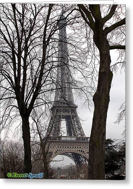 Eiffel Tower 4 Greeting Card by Everett Spruill